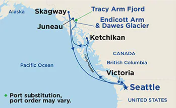 Alaska - Seattle - Emerald Princess