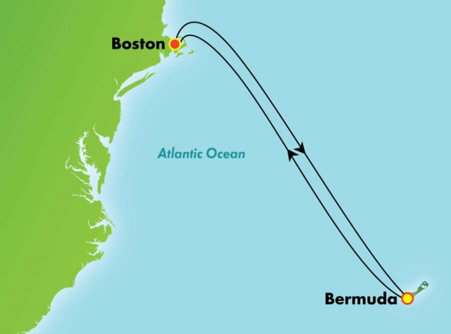 Bermudy - Boston - Norwegian Gem