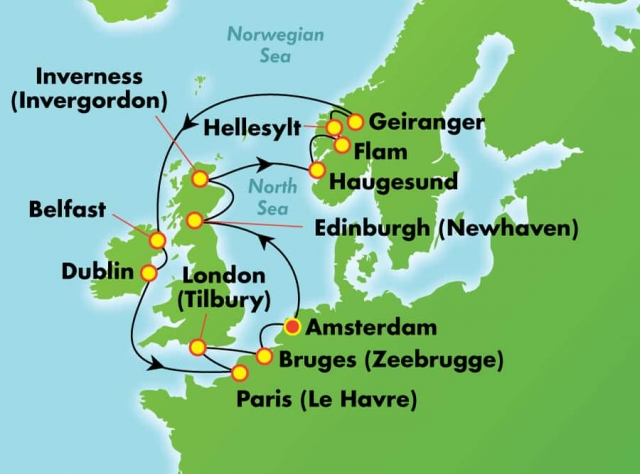 Fiordy Norweskie ALL INCLUSIVE - Amsterdam - Norwegian Pearl