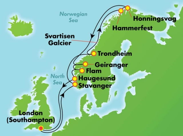 Fiordy Norweskie ALL INCLUSIVE - Southampton - Norwegian Sp..
