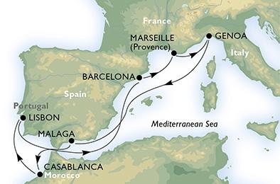 Rejs: Morze Śródziemne- Lizbona- MSC Splendida | rejsy.pl